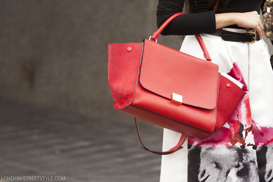Details red Celine Bag Vogue festival